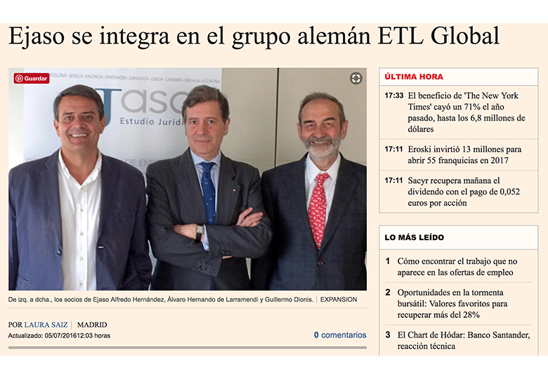 ejaso se integra en etl global