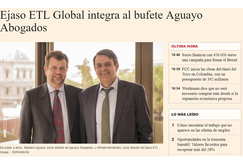 bufete aguayo abogados se integra en ejaso etl global - hidrocarburos