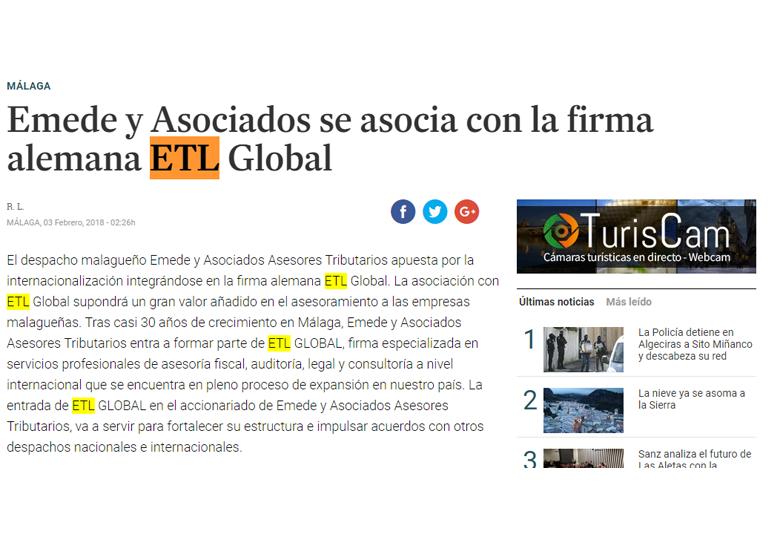 emede y asociados se asocia con la firma alemana etl global