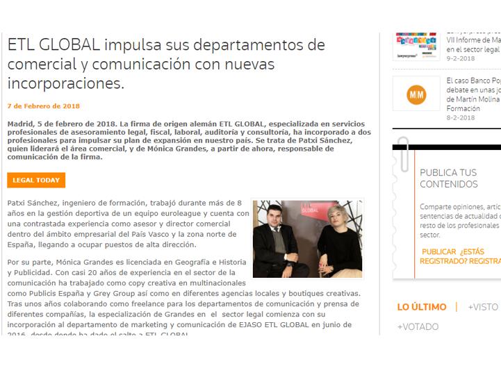 etl global impulsa sus departamentos comercial comunicacion