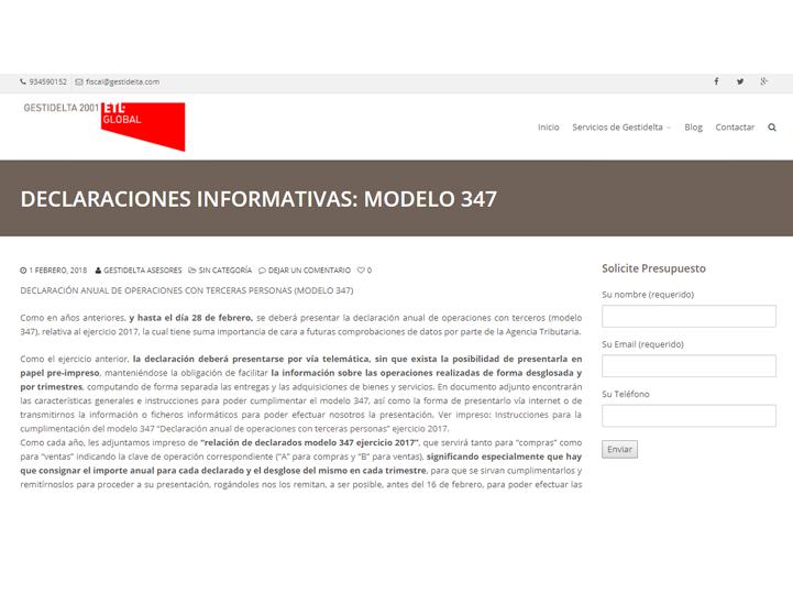 gestidelta declaracion anual operaciones modelo 347