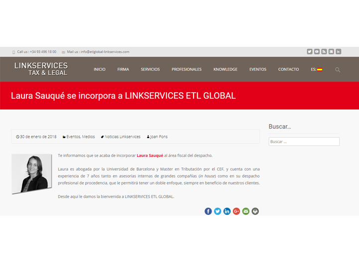 linkservices incorpora laura sauque