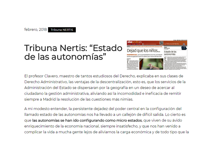 tribuna nertis estado autonomias