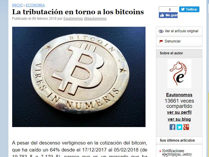 tributacion entorno a los bitcoins