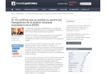 El TS confirma que es posible no asumir los trabajadores de la anterior empresa explotadora de la EESS – Febrero 2018