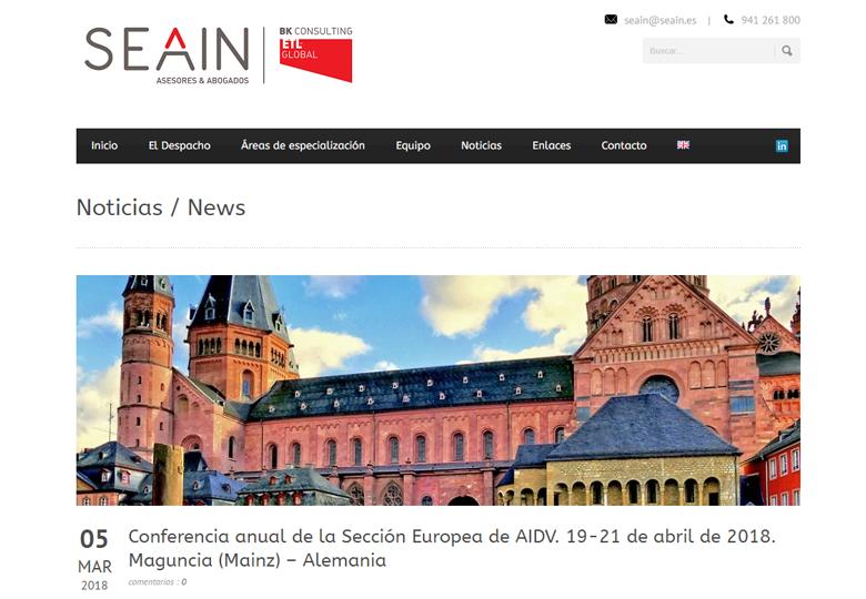 SEAIN – Conferencia anual de la Sección Europea de AIDV – Marzo 2018