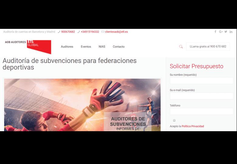 Auditoría de subvenciones para federaciones deportivas