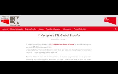 4º Congreso ETL Global España En el blog de BK-ETL Global – Mayo 2018