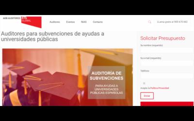 Auditores para subvenciones de ayudas a universidades públicas