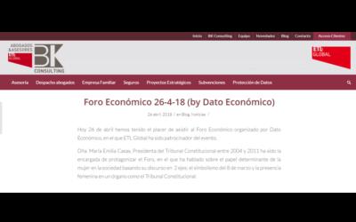 Foro Económico 26-4-18 (by Dato Económico)