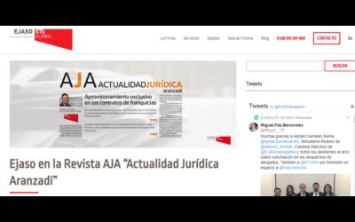 Ejaso en la Revista AJA Actualidad Jurídica Aranzadi – Junio 2018