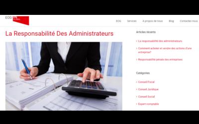 La responsabilité des administrateurs En el blog de EOG-ETL Global – Junio 2018