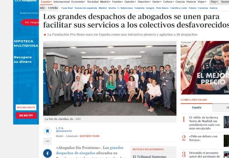 Los grandes despachos de abogados se unen para facilitar sus servicios a los colectivos desfavorecidos