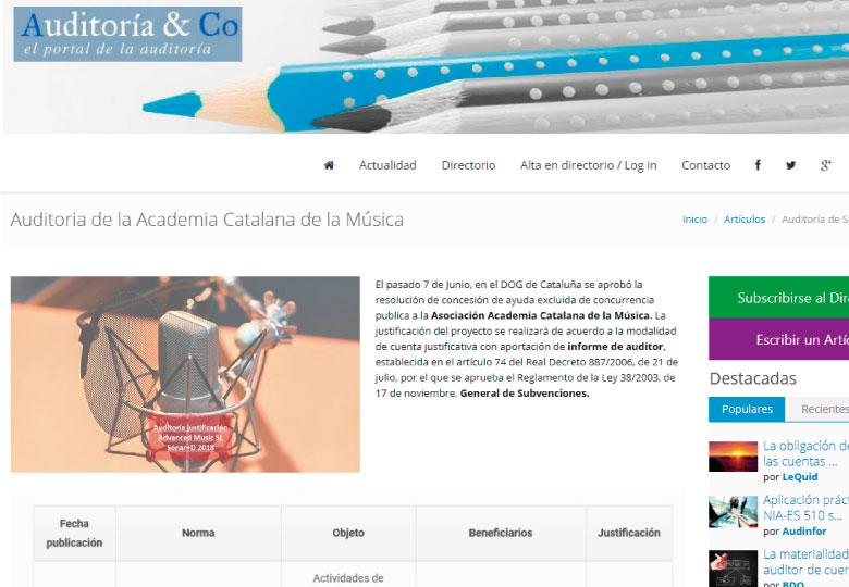 Auditoria de la Academia Catalana de la Música