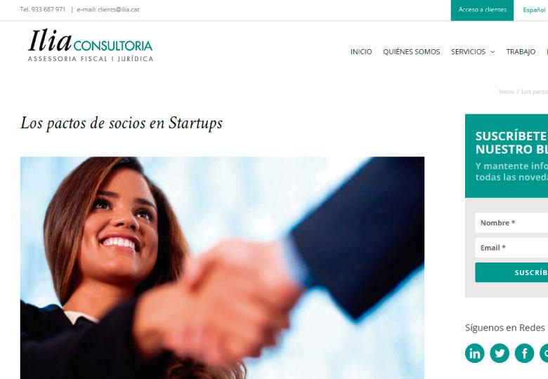 'Los pactos de socios en Startups'