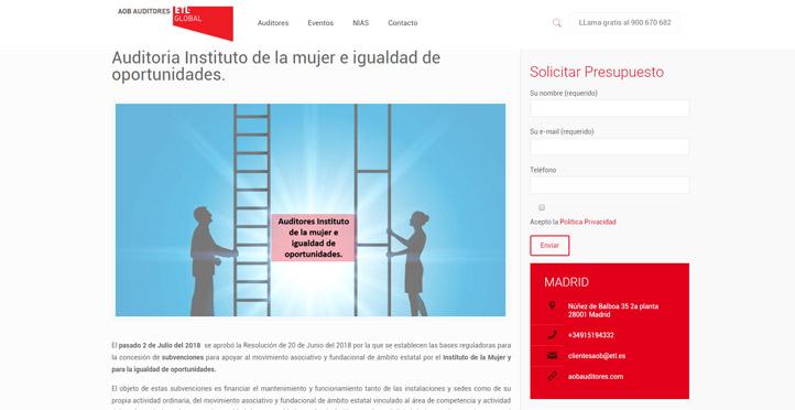 'Auditoria Instituto de la Mujer e Igualdad de Oportunidades'