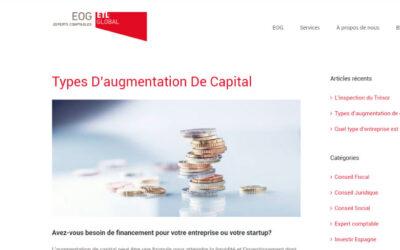 'Types d'augmentation de capital'