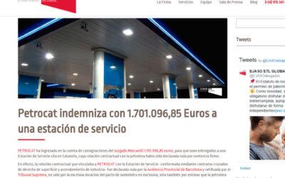 'Petrocat indemniza con 1.701.096,85 Euros a una estación de servicio'
