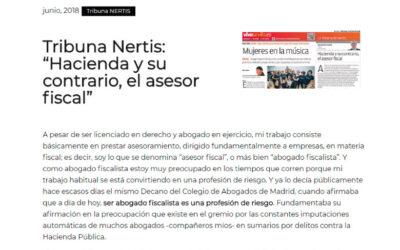 Hacienda y su contrario, el asesor fiscal'En la tribuna de Nertis-ETL Global