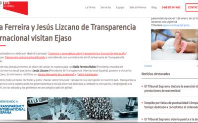 'Delia Ferreira y Jesús Lizcano de Transparencia Internacional visitan Ejaso'
