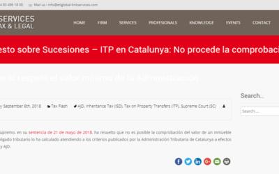 'ITP en Catalunya: No procede la comprobación de valores si respeta el valor mínimo de la Administración'