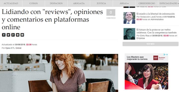 Lidiando con reviews, opiniones y comentarios en plataformas online
