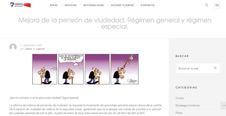 'Mejora de la pensión de viudedad. Régimen general y régimen especial'
