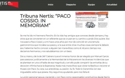 PACO COSSIO. IN MEMORIAM
