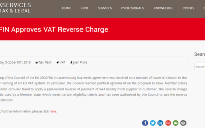 'ECOFIN Approves VAT Reverse Charge'