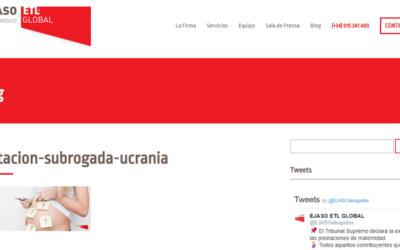 'La gestación subrogada y el caso reciente de parejas españolas en Ucrania'