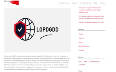 'Las implicaciones de la LOPDGDD'