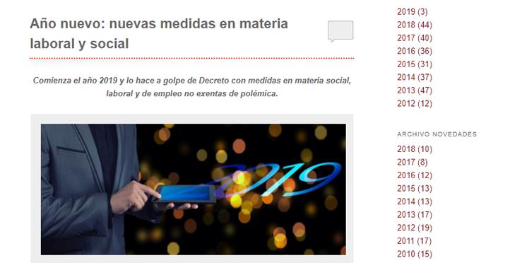 'Año nuevo: nuevas medidas en materia laboral y social'