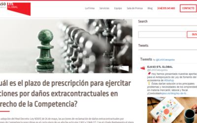 '¿Cuál es el plazo de prescripción para ejercitar acciones por daños extracontractuales en Derecho de la Competencia?'