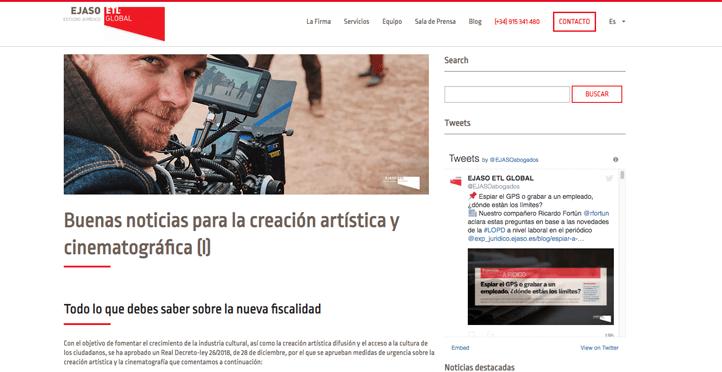 'Buenas noticias para la creación artística y cinematográfica (I)'