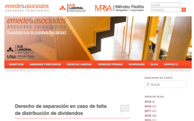 'Derecho de separación en caso de falta de distribución de dividendos'