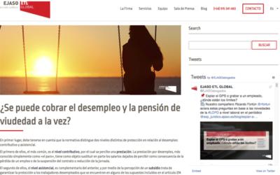 '¿Se puede cobrar el desempleo y la pensión de viudedad a la vez?'