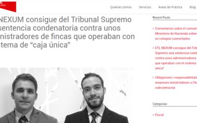 """ETL GLOBAL NEXUM consigue una sentencia condenatoria contra administradores de fincas que operaban con el sistema de """"caja única"""""""