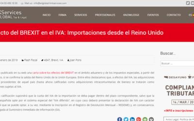 Impacto del BREXIT en el IVA: Importaciones desde el Reino Unido