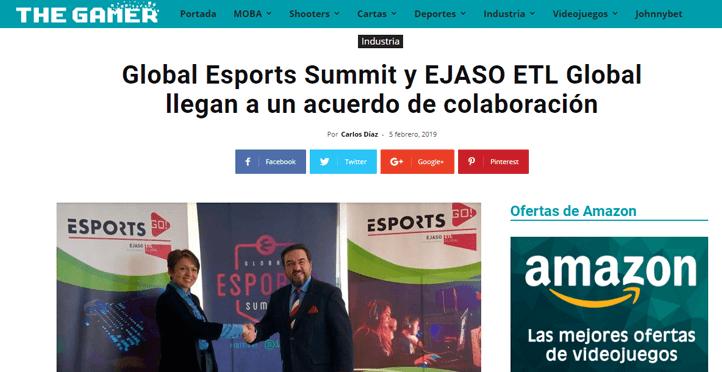 Global Esports Summit y EJASO ETL Global llegan a un acuerdo de colaboración