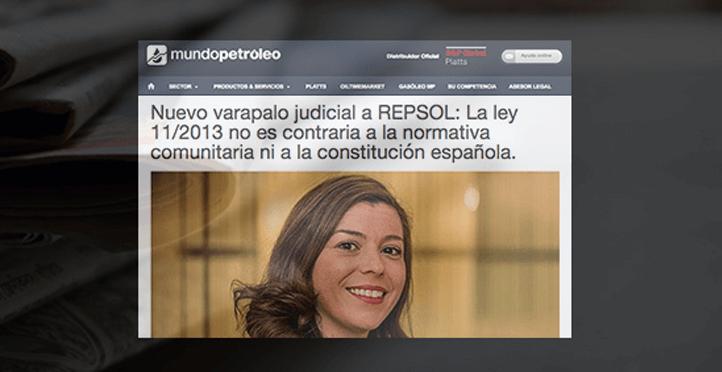 El TS rechaza la impugnación presentada por Repsol: Mundo Petróleo se hace eco de la noticia