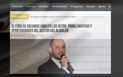Nuestro compañero José Ignacio Saldarriaga en el Foro ASEAMAC 2019