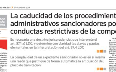 Susana Beltrán y la caducidad de los procedimientos en ACTUALIDAD JURÍDICA