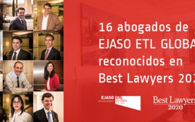 El ranking internacional Best Lawyers reconoce a dieciséis abogados de EJASO ETL Global como profesionales destacados en España