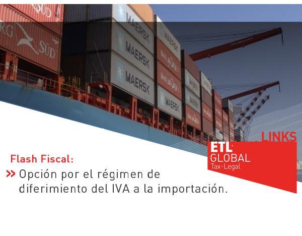 Opción por el régimen de diferimiento del IVA a la importación