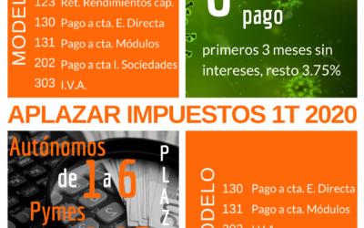 Gescobar: Opciones aplazamiento impuestos Pymes y autónomos