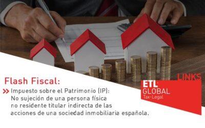 ETL Global LINKS: No sujeción de una persona física no residente titular indirecta de las acciones de una sociedad inmobiliaria española