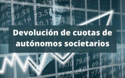 Devolución de cuotas de autónomos societarios