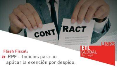 ETL Global LINKS: IRPF – Indicios para no aplicar la exención por despido