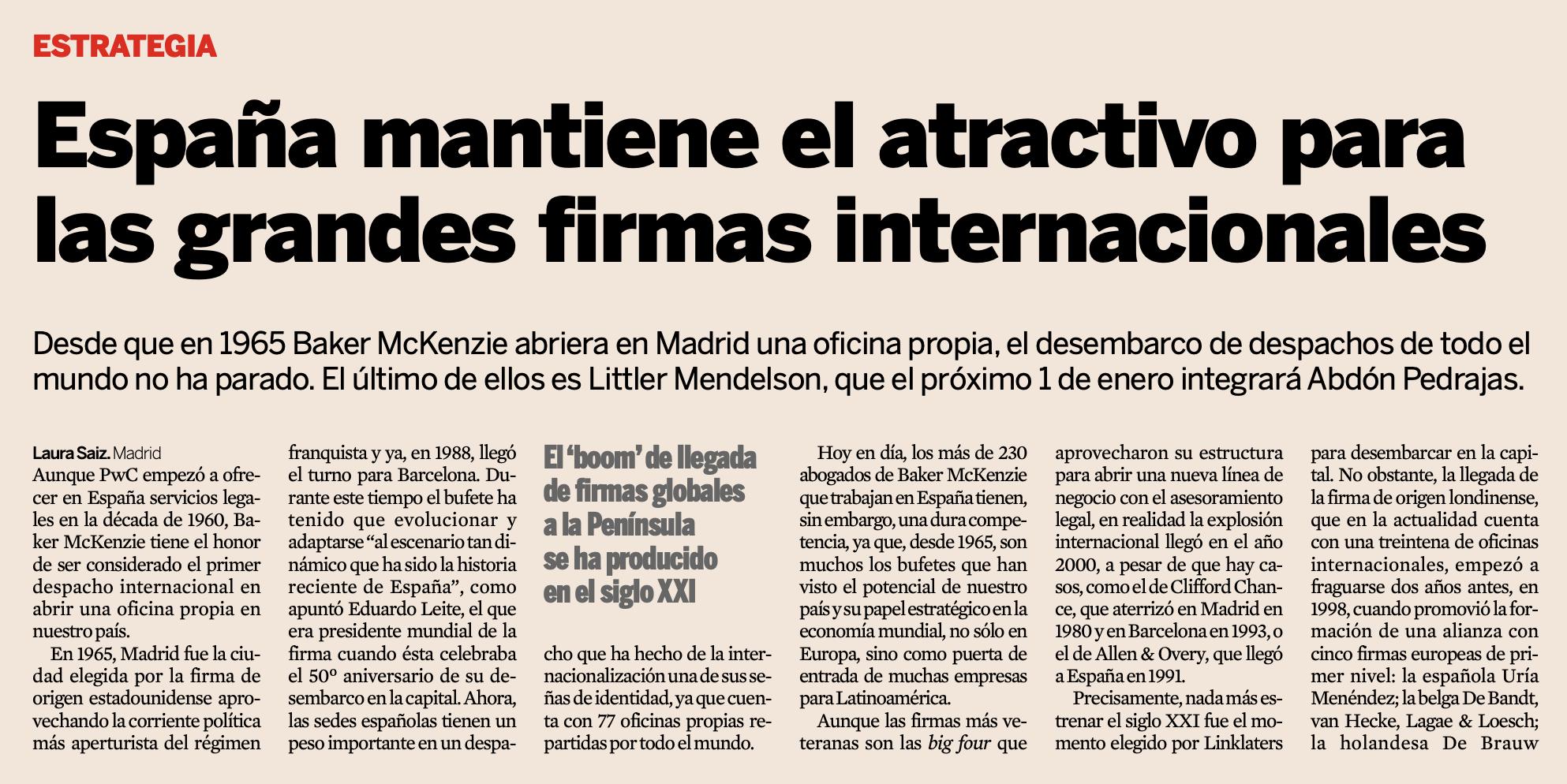 Crecimiento del área de legal de ETL Global en España