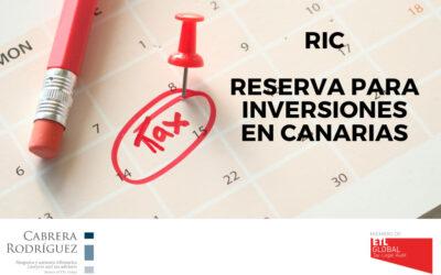 Cabrera Rodríguez: Reserva para inversiones en Canarias